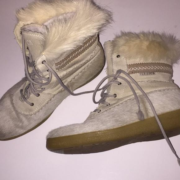 Tecnica Womens Fur Apres Ski Boots Size
